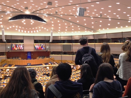 PPLE students at the EP in Brussels