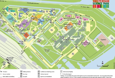 Plattegrond Amsterdam Science Park